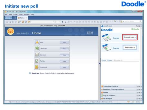 exle doodle poll doodle widget for lotus notes