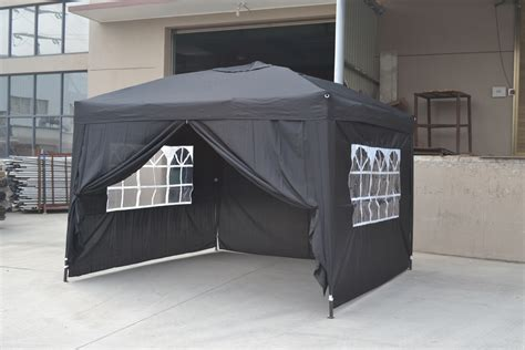 Canopy With Sides 10x10 Ez Pop Up 4 Walls Canopy Tent Gazebo With