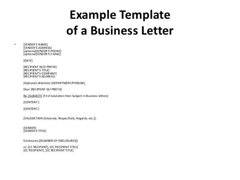 Business Letter Beispiel business meeting