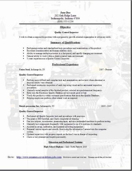 Construction Qc Manager Resume by Qc Inspector Resume Sales Inspector Lewesmr