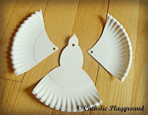Paper Dove Craft - paper plate dove sunday school ideas