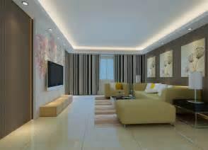 Ceiling For Living Room Living Room Ceiling Design 3d Rendering