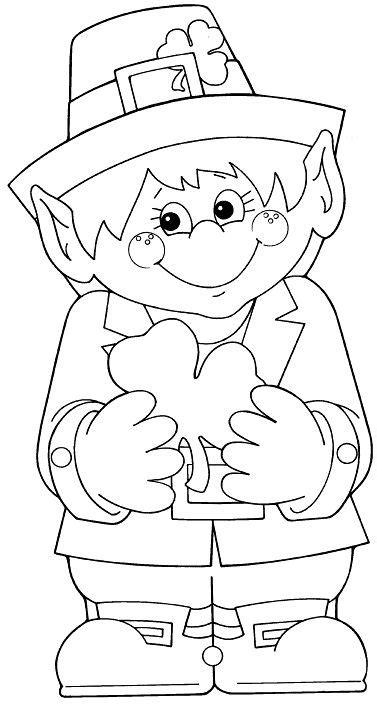 leprechaun coloring pages pdf leprechaun template school pinterest