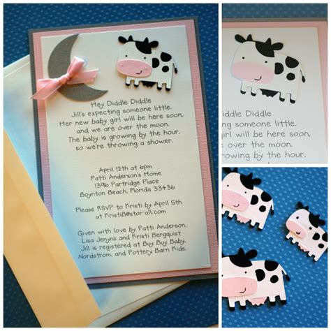 Cow Themed Baby Shower by Hey Diddle Diddle Cow Baby Shower Invitation Baby Shower