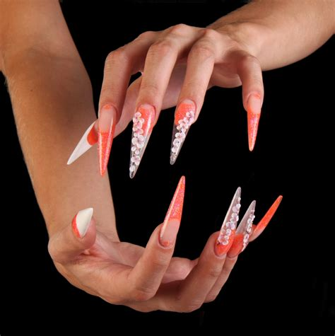 Pose Ongle Gel by Ongles Stiletto Pose Ongle En Gel Forme Stileto Ongle
