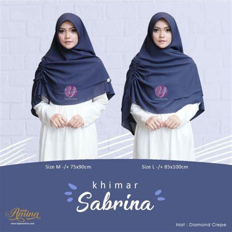 Termurah Khimar Sabrina Jilbab Kerudung khimar sabrina mauve hijabamina