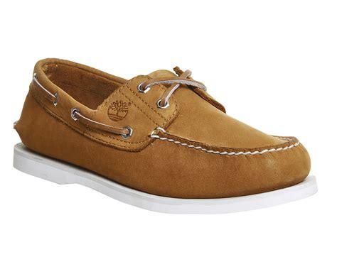 timberland new boat shoe wheat nubuck exclusive casual - Timberland New Boat Shoe Wheat Nubuck Exclusive