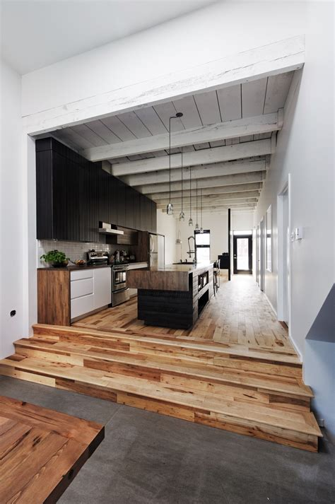 level floor black white wood kitchens ideas inspiration