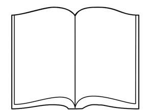 book shape template open book outline clipart best