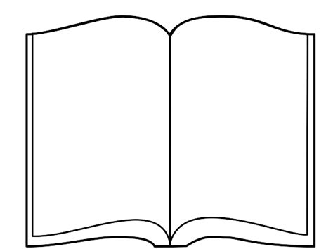 book shape template open book clip black and white clipart panda free