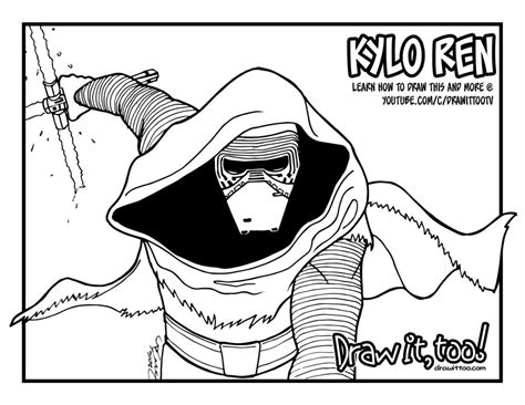 coloring pages kylo ren kylo ren coloring pages sketch coloring page