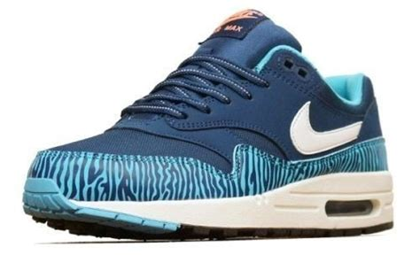 Nike Air Max 1 Essential Blue Zebra buty nike air max 1 gs quot blue zebra quot 555766 402 w yessport pl