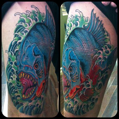 piranha tattoo designs piranha blood and iron salt and sand