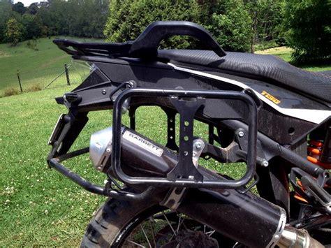 ktm 990 adventure pannier rack ktm panniers page barrett products australian made motorbike exhausts and panniers