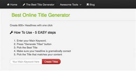 Resume Jargon Generator Title For Essay