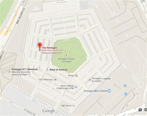 washington dc map pentagon the pentagon is the world s largest building world easy