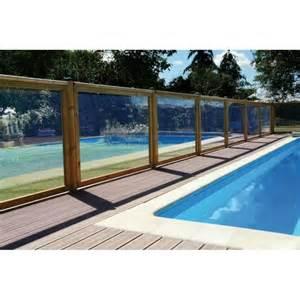 barri 232 re de piscine transparente en bois et pmma la