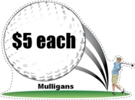 mulligan card template mulligan golf signs