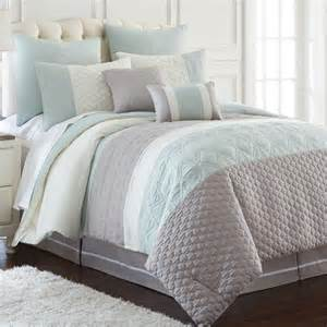 king size soft blue grey white embroidered quilted