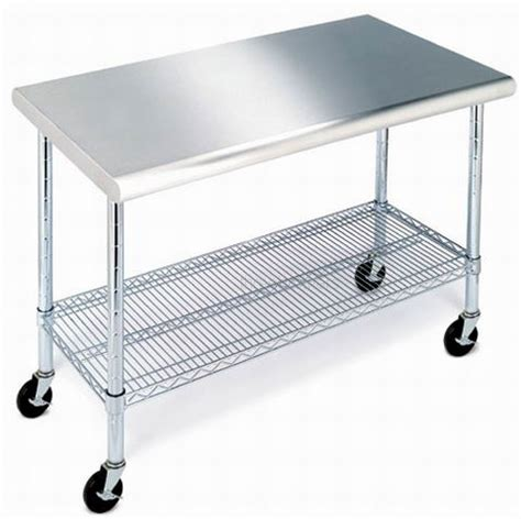 stainless steel kitchen island table 24x36 with adjustable new stainless steel top work table kitchen prep nsf