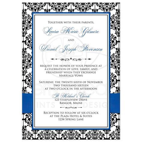 Inv Blue Black Royal Blue And Black Wedding Invitations Www Imgkid
