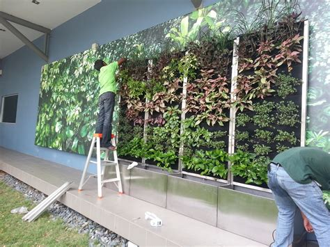 Vertical garden installation in desa park city lush eco