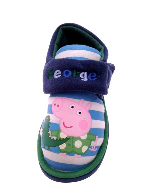 character slippers for toddlers boys peppa pig george novelty slippers fleece