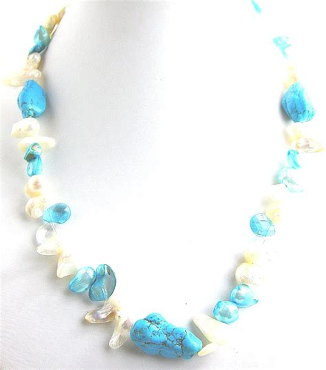 pearl bead necklace freshwater pearl necklaces turquoise pearl bead