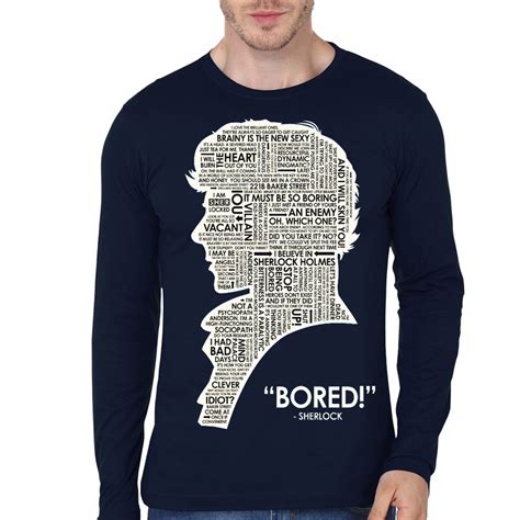 T Shirt Sherlock Anime sherlock bored sleeve t shirt swag shirts
