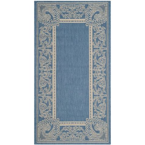 safavieh cy2965 3103 courtyard indoor outdoor area rug blue lowe s canada safavieh courtyard blue 2 ft x 3 ft 7 in indoor outdoor area rug cy2965 3103 2 the