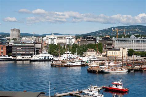 oslo porto porto di oslo norvegia immagine stock immagine di porta