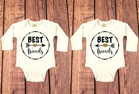 best friend for baby clothes best friends matching baby bodysuits best