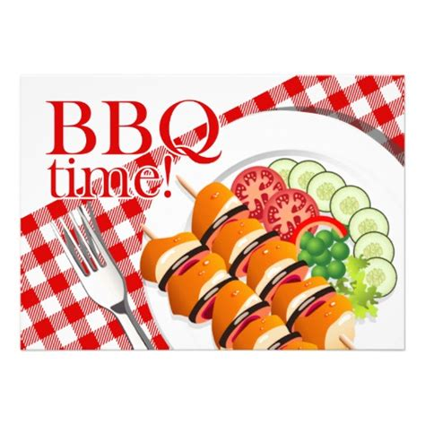 cookout clipart bbq backyard cookout summer announcement from zazzle
