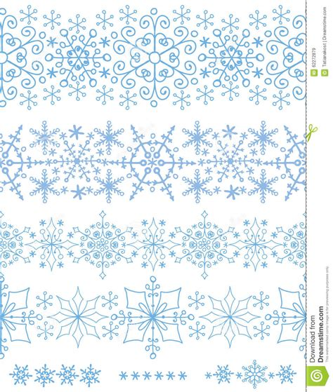 winter vintage pattern wallpaper vector seamless snowflakes seamless borders winter pattern set stock