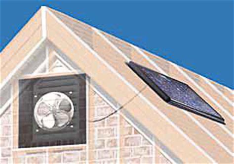 solar gable attic fan solar powered attic fan gable mount 20w 1250 cfm w