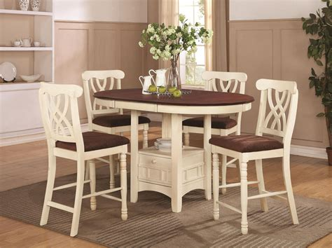 wood pub table sets coaster 102238 102239 white wood pub table set in