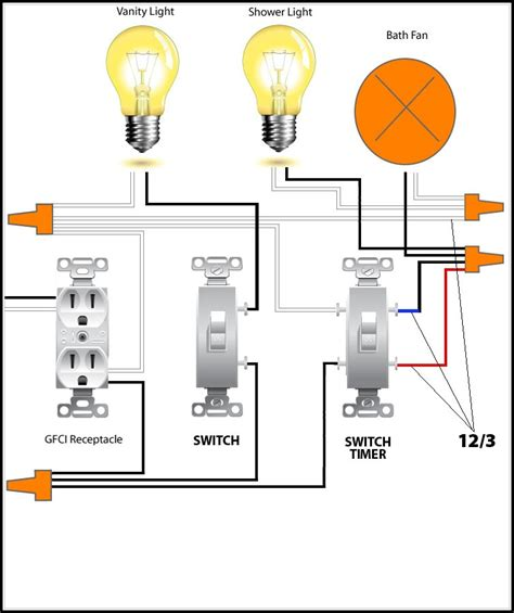 nutone bathroom fan wiring diagram bathroom home