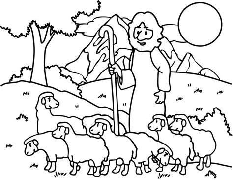 good shepherd lost sheep coloring pages kids env printable sheep coloring pages