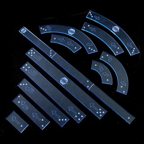x wing movement templates wars x wing miniatures acrylic templates