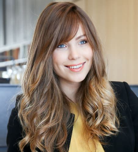 hairstyles with light bangs 25 most popular ombre hair color ideas hairstyles