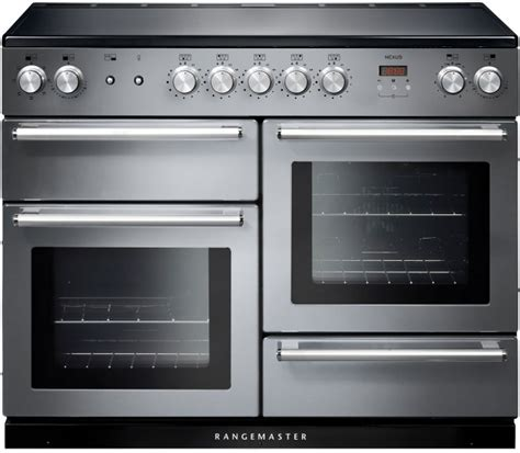 electric induction range cookers 110cm buy rangemaster nex110eiss c nexus 110 induction stainless steel 110cm electric induction range