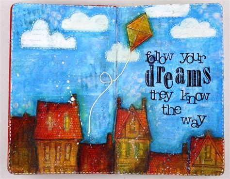 art journal printable pages ideas art journal page follow your dreams clips n cuts