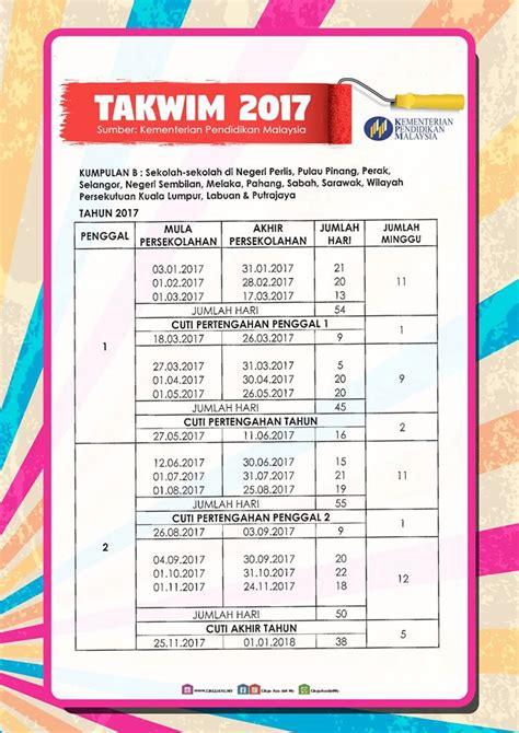Kalender 2018 Cuti Sekolah Sarawak Kalendar 2017 Malaysia Versi Terbaik Cuti Cuti Sekolah