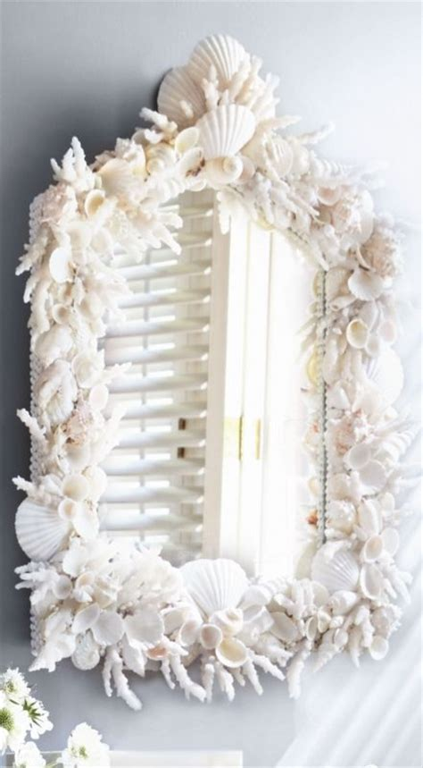 How To Decorate A Mirror With Shells by Best 25 Shell Mirrors Ideas On Sea Shell