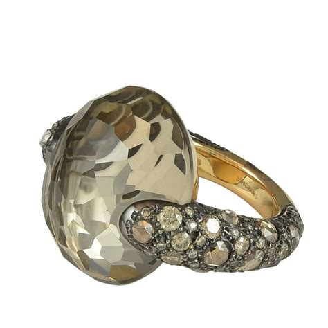 pomellato ring pomellato collection smokey quartz brown
