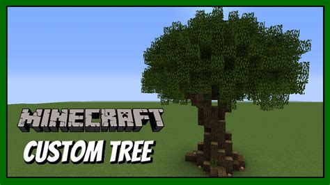 how to make a tree minecraft how to build custom tree tutorial
