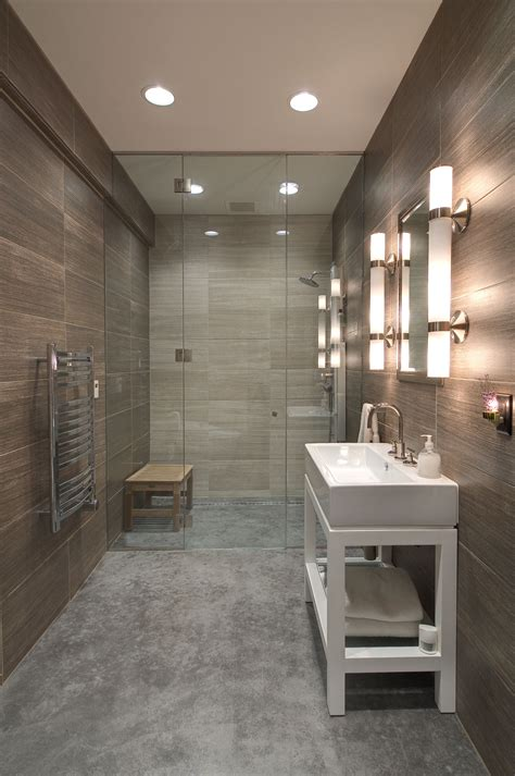 polished concrete in bathroom stained polished concrete flooring ceramic tile recessed