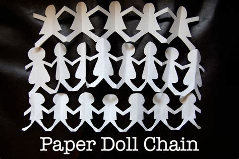 How To Make Paper Doll Chains - two ingredient tuesday paper doll chain crafting stuff