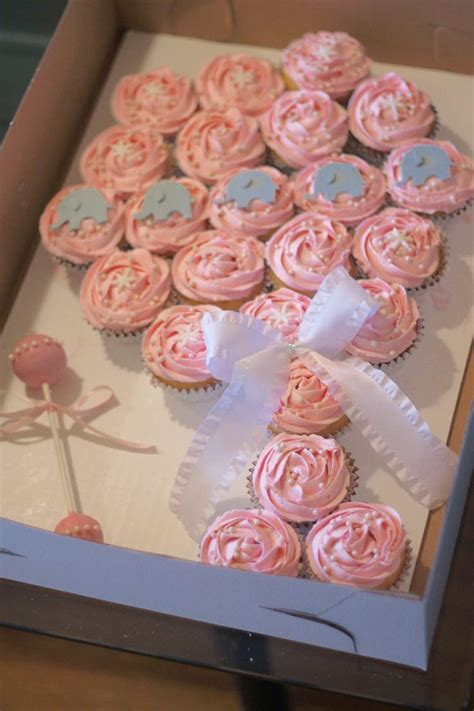 Cupcake Cake For Baby Shower by Baby Shower Cupcake Cakes Rattle Www Pixshark