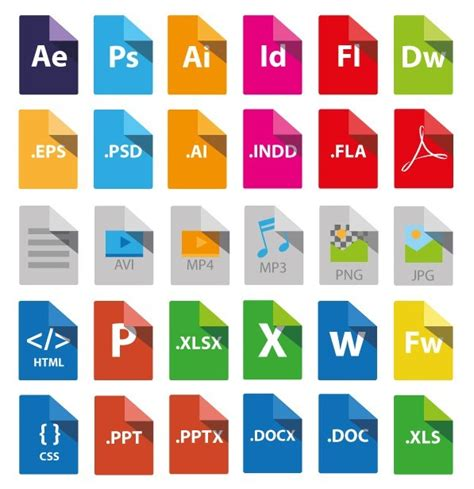 eps format in powerpoint free flat file type icons pack titanui